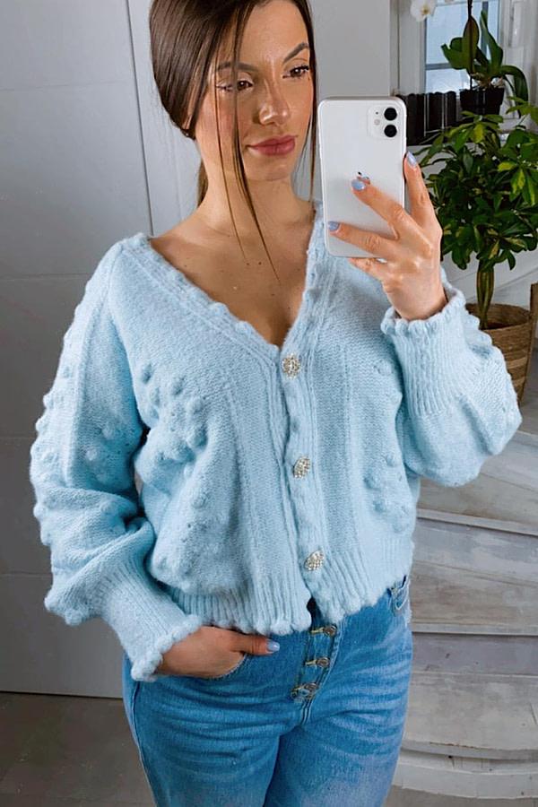 Gilet Mona manches longues en tricot