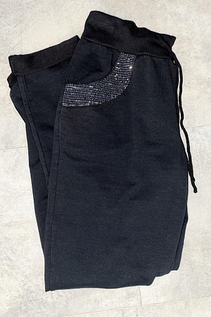 pantalon jogging+poche sequins
